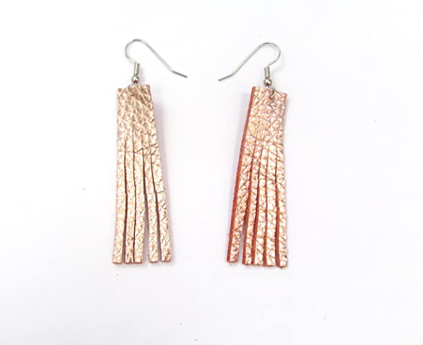 Cork earrings Bead earrings Boho chic earrings Gifts for her Leather earrings Cork and leather earrings