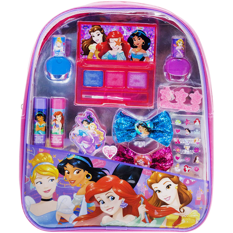 Townley Girl Disney Princess Cosmetic Backpack Set, 11 CT