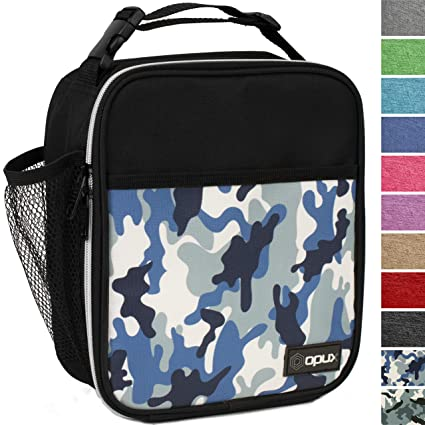 72690fdeaf67 OPUX Premium Insulated Lunch Box   Soft Leakproof School Lunch Bag for  Boys, Girls, Kids   Durable Reusable Work Lunch Pail Cooler for Adult Men,  ...