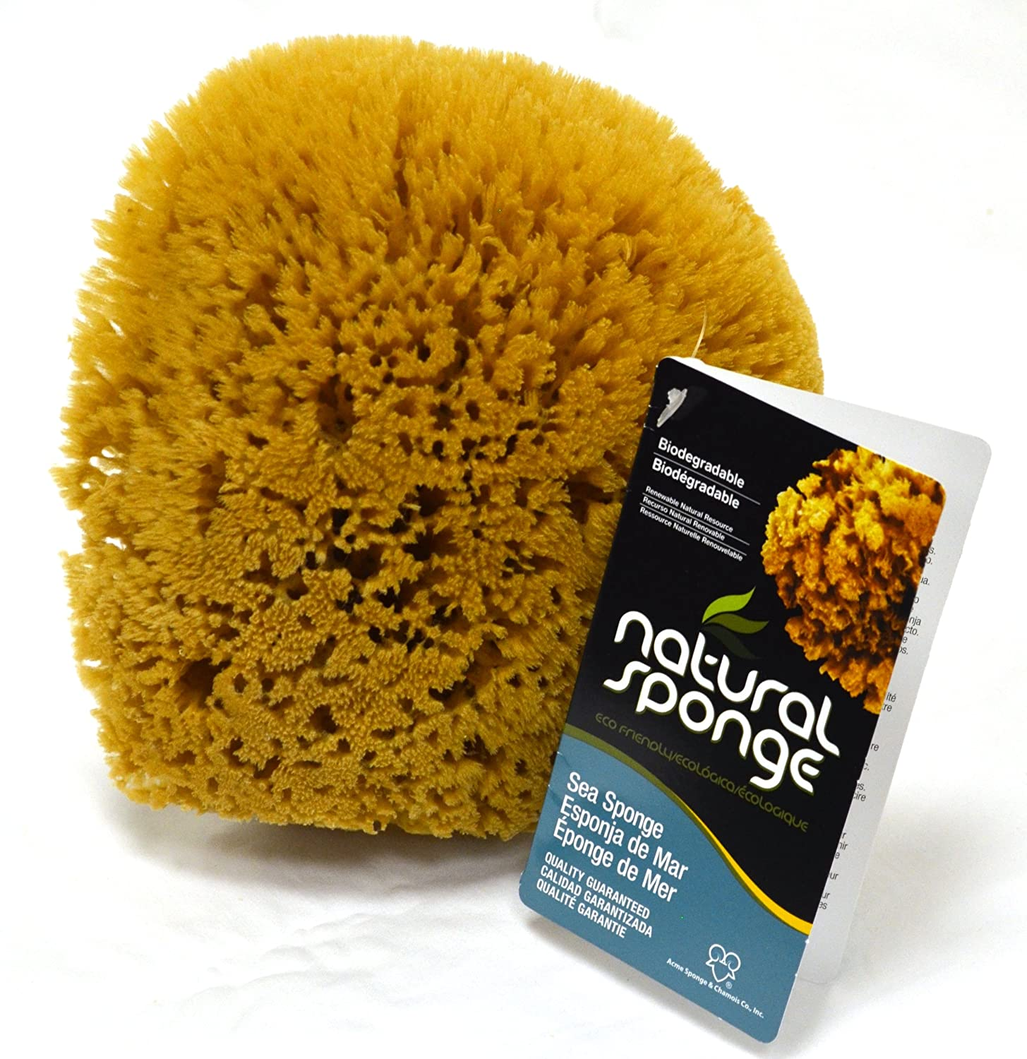 The Natural Sea Sponge, 6 to 7-Inch, Yellow Acme Sponge and Chamois Co. Inc. - THI Y6070C