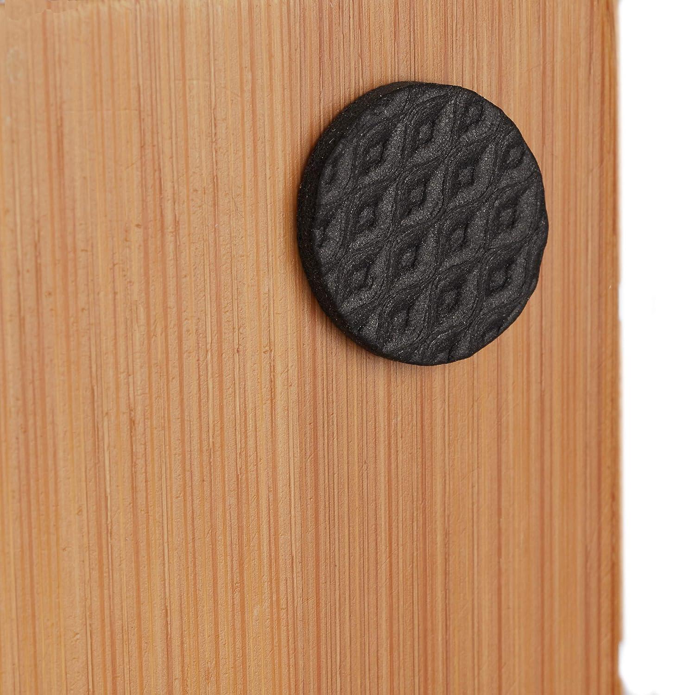 Almohadillas Adhesivas Relaxdays Set de 250 Piezas Goma Antideslizante Muebles Negro Protector Suelo Varios Tama/ños