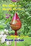 Gartenkugel (RT1) Rosenkugel Tropfenform Gartenkugeln Rosenkugeln Glas 33 cm groß (auch mit Rosenkugelstab erhältlich)