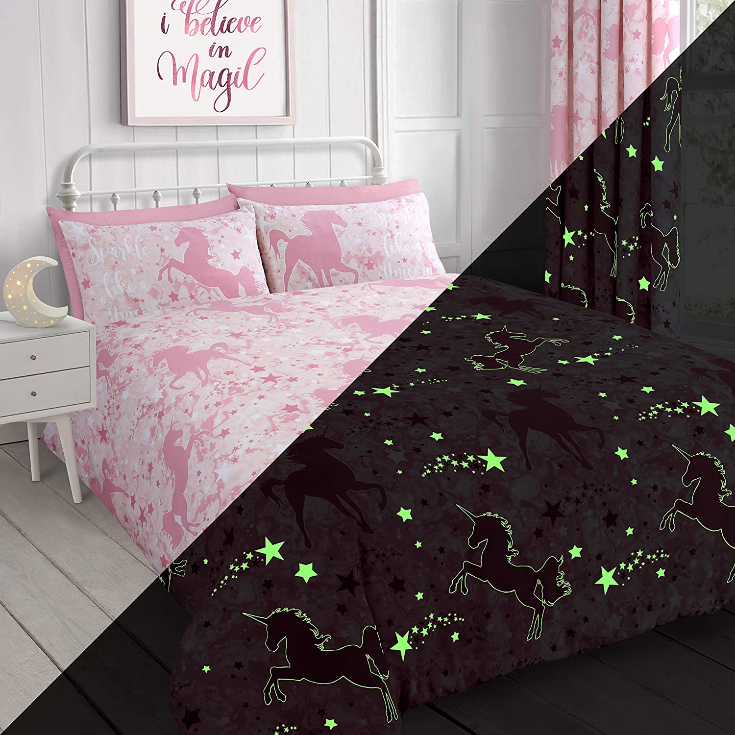 Unicorn-Stars-Magical-Duvet-Cover-Bedding-Set