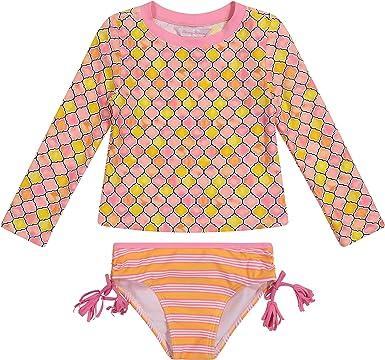 Tommy Bahama Girls Long Sleeve One Piece Rashguard Swimsuit Bathing Suit