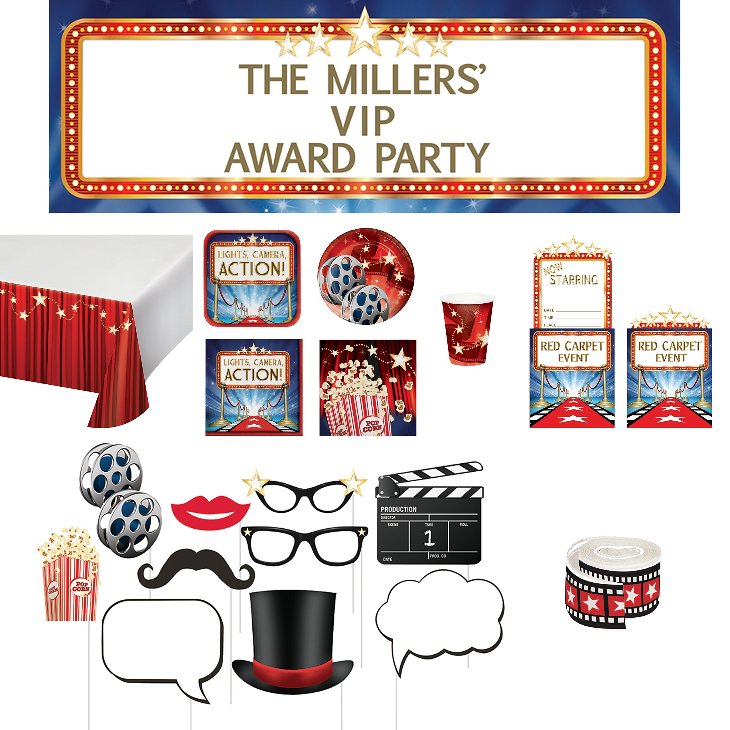 Hollywood Lights Party Decorations Package - Movie Theme Party Supplies