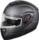 Castle X Atom SV Electric Modular Snowmobile Helmet (LRG, Matte Black)