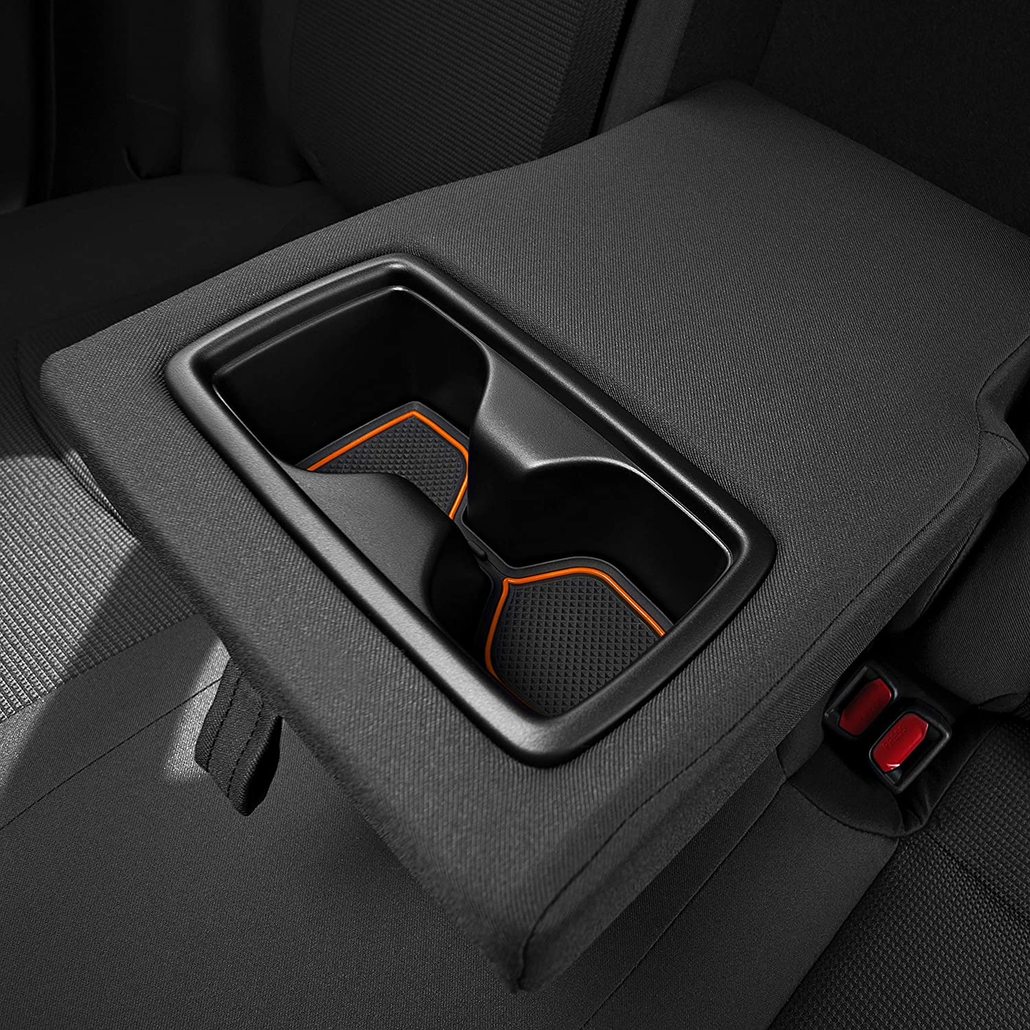 Premium Cup Holder Console and Door Pocket Inserts 13-pc Set CupHolderHero for Toyota RAV4 2019-2020 Custom Liner Accessories Solid Black