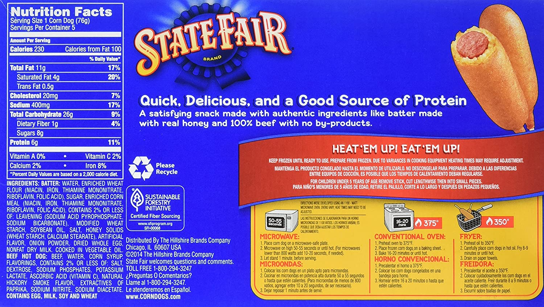 State Fair All Beef Corn Dog 5 Ct 1335 Oz Frozen Amazon