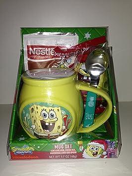 Spongebob Squarepants Nestle Hot Cocoa Chocolate Coffee Mug Spoon