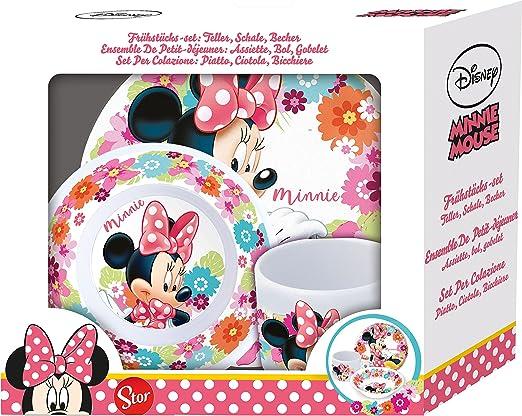 Set de desayuno de 3 piezas de Minnie Mouse