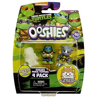 """Ooshies Set 1 """"TMNT Series 1"""" Action Figure (4 Pack): Toys & Games"""