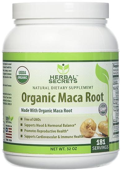 ace7f2746 Amazon.com: Herbal secrets USDA Certified Organic Maca Root Powder ...