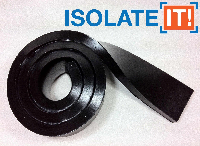 "Isolate It!: Sorbothane Strip 36"" (91.4cm) x 2"" (5.1cm) x 1/2"" (1.27cm) 70 Duro - 1 Strip"