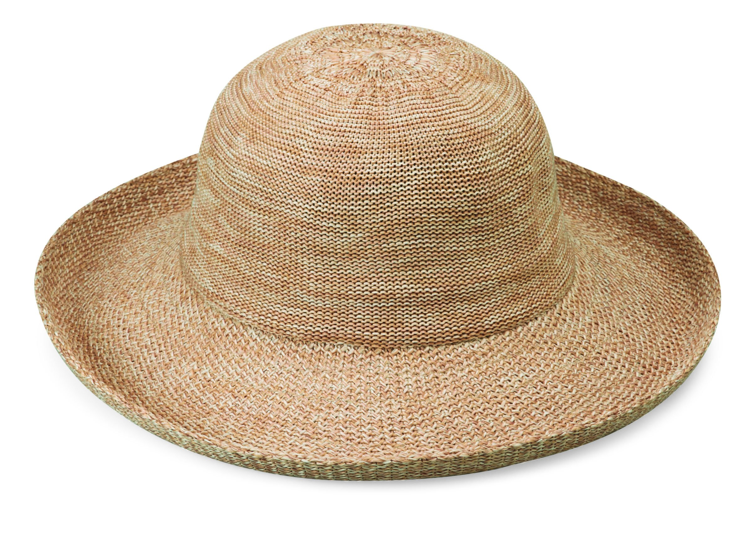 Wallaroo Hat Company Women's Victoria Sun Hat - Mixed Camel - Ultra-Lightweight, Packable, Modern Style, Designed in Australia. by Wallaroo Hat Company