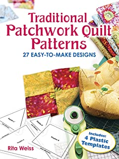 Clover patchwork templates squareoctagon amazon kitchen home traditional patchwork quilt patterns with plastic templates instructions for 27 easy to make maxwellsz