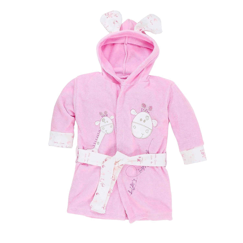 Bebicci - Equipo básico para bebé (juego de albornoz, toalla con capucha, guantes, cinturón, biberón con animales, diseño de oveja, 100 % algodón, ...