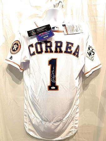 wholesale dealer ec6fa 54408 Carlos Correa Houston Astros Signed Autograph Authentic On ...