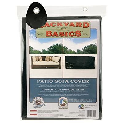 Backyard Basics Patio Sofa Cover, 85 x 40 x 35 Inch : Outdoor Sofa Covers : Garden & Outdoor