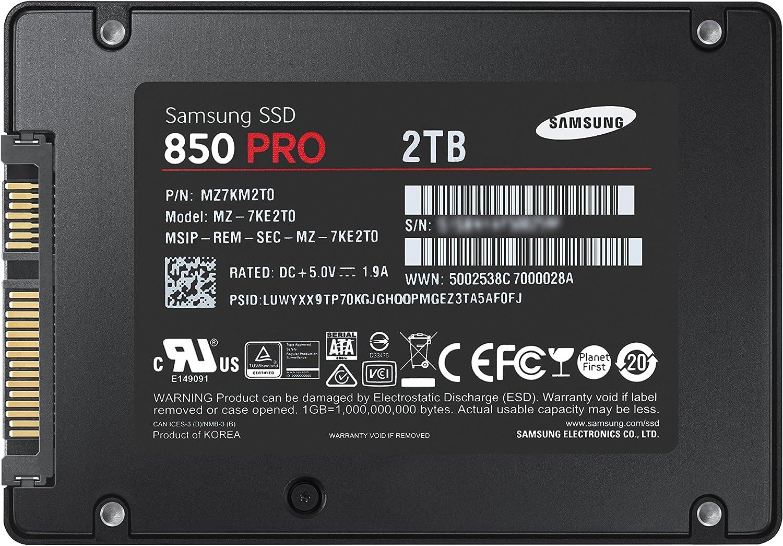 Samsung 850 Pro - Disco Duro sólido (2 TB, Serial ATA III, 550 MB ...