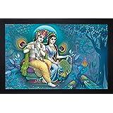 SAF 'Radha Krishna Religious' Painting (Synthetic, 35 cm x 3 cm x 50 cm)