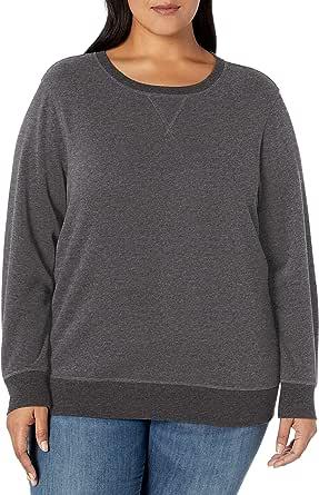 Amazon Essentials Women's Plus Size French Terry Fleece Crewneck Sweatshirt