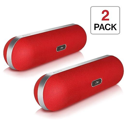 33 opinioni per iQualTech Altoparlante Bluetooth- Forma Pillola con Microfono Vivavoce e