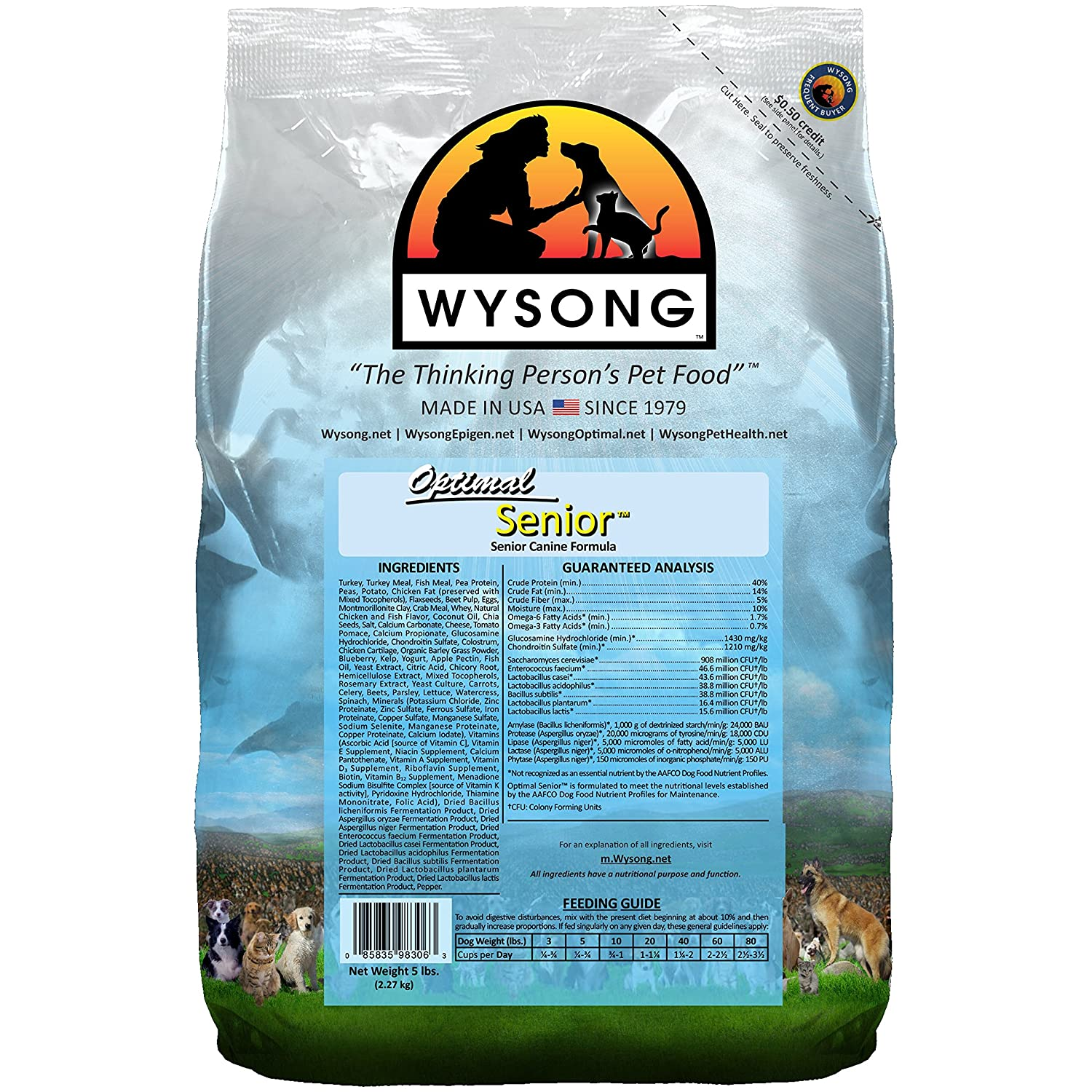 5 Pound Wysong WDCOS5 Optimal Senior, 5 Pound