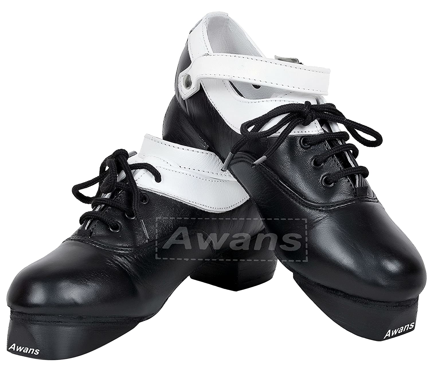 Awans Irish Dancing Heavy Shoes, Loud, Flexible,Soft, New Design White Lining