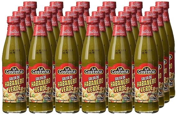 La Costeña Salsa Chile Habanero Verde - Paquete de 24 x 150 gr - Total: 3600 gr: Amazon.es: Alimentación y bebidas