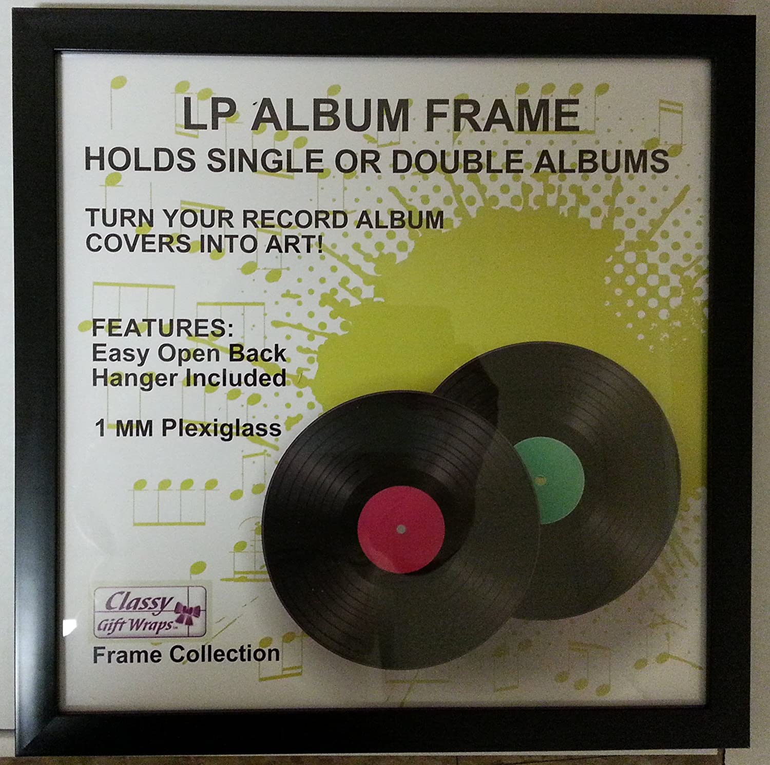 amazoncom black lp frame record album picture frame