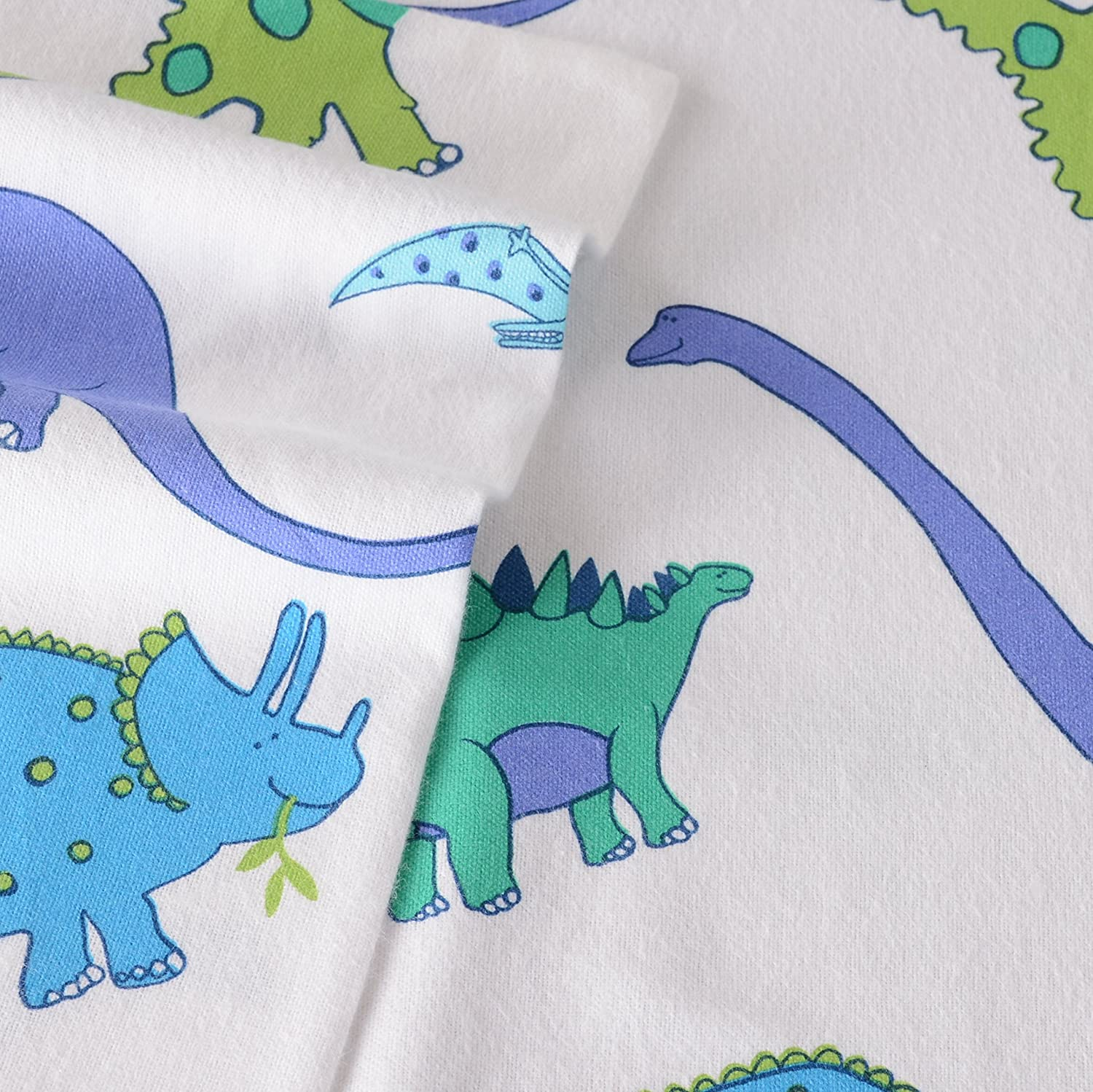 Laura Ashley Dinosaurs Flannel Sheet Set, Twin