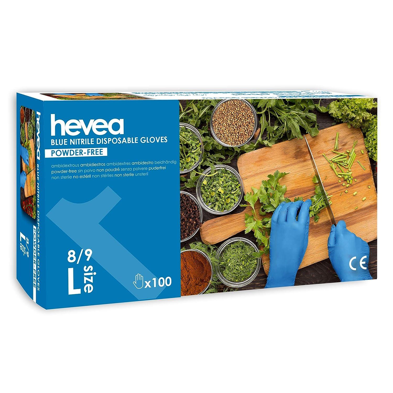 Gr/ö/ße: L gro/ß Farbe: Schwarz Puder- und latexfrei Einweghandschuhe aus Nitril Packung aus 5 Kartons mit je 100 Handschuhen Hevea