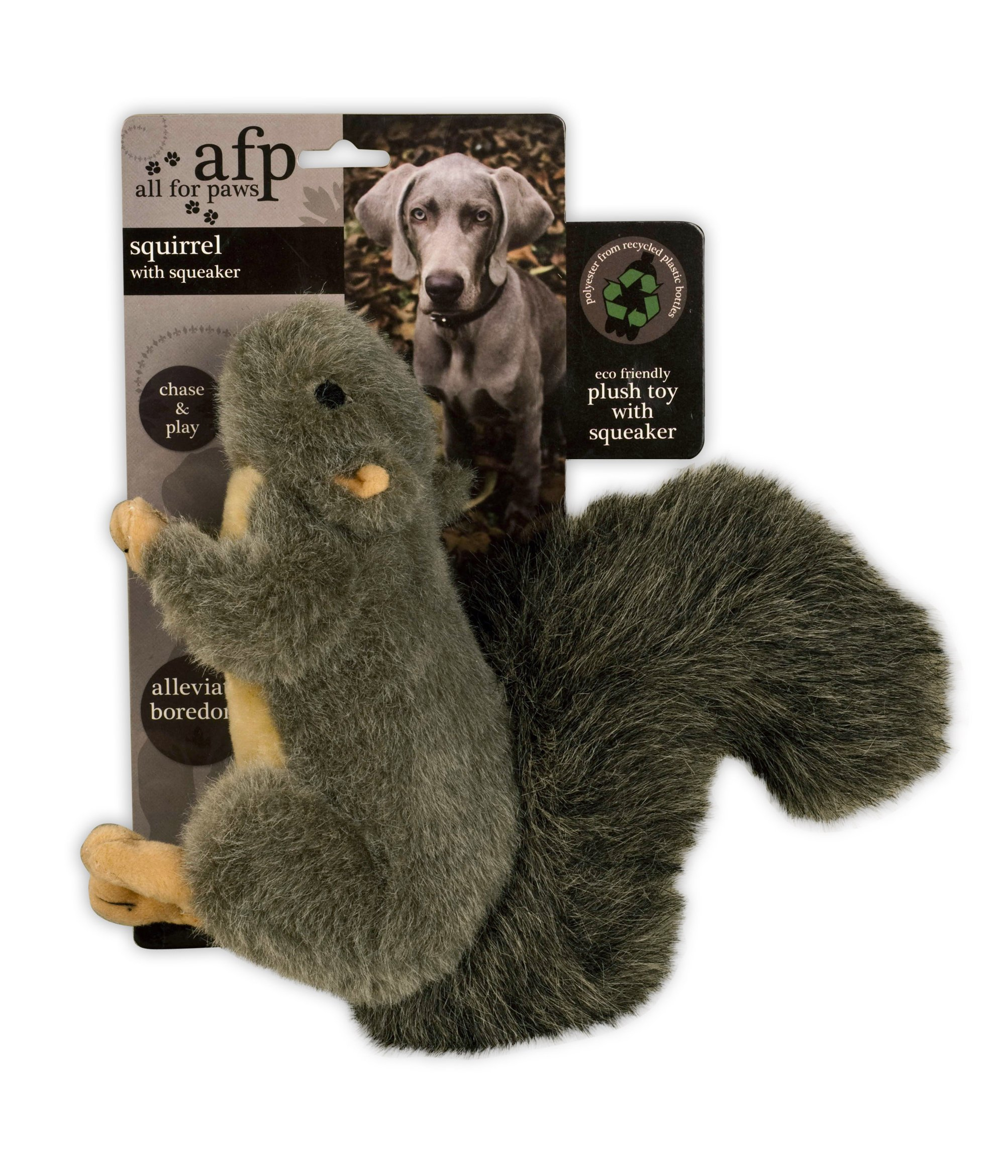 All for Paws Classic Squirrel Pet Toys, Large