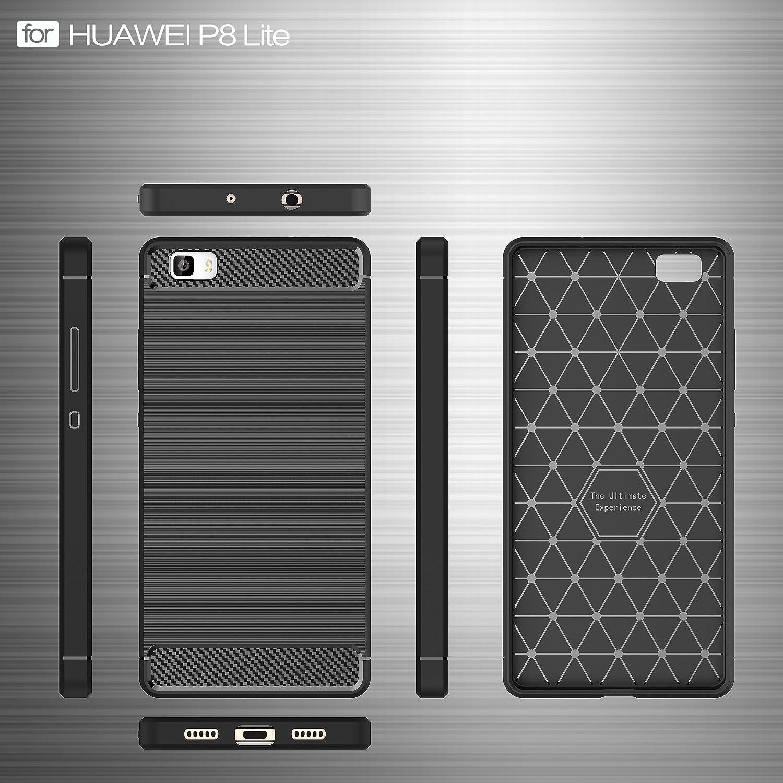 2ndSpring Funda para Huawei P8 Lite 2016,Carcasa Slim Soft Silicon ...
