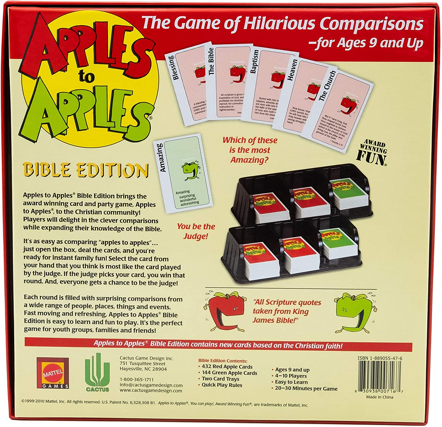 Apples to Apples Bible Edition New
