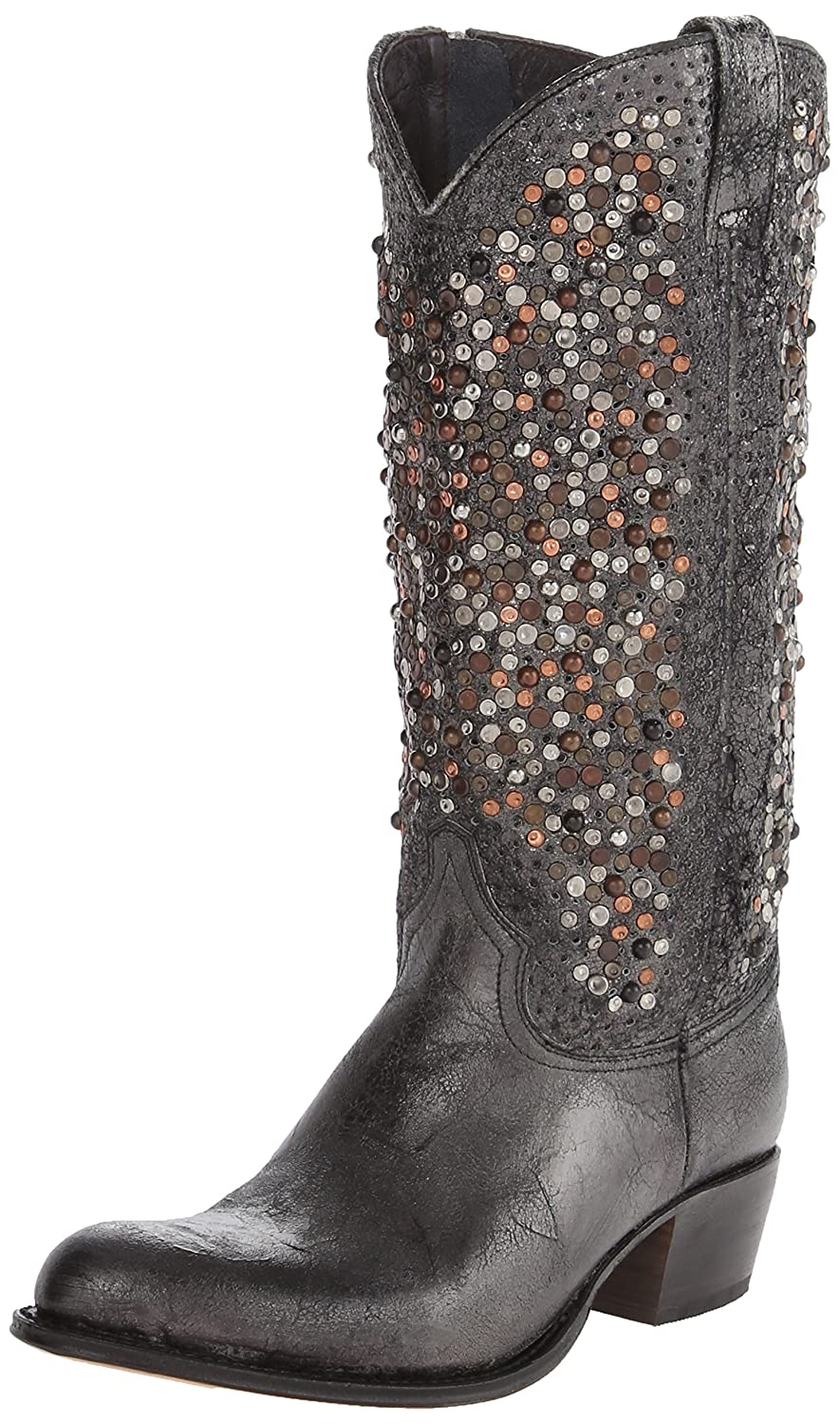 FRYE Women's Deborah Studded Tall Western Boot B00IM5I1Y2 7 B(M) US|Anthracite-77860