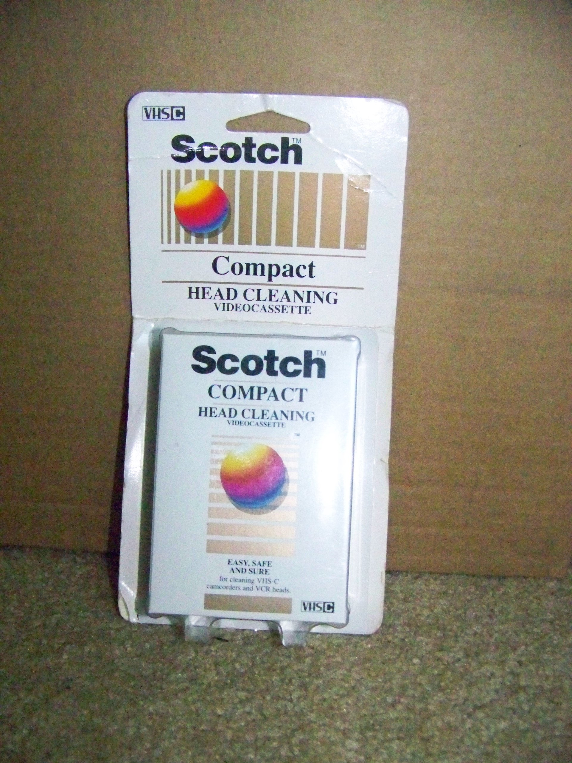Scotch Compact Head Cleaning- Videocassette