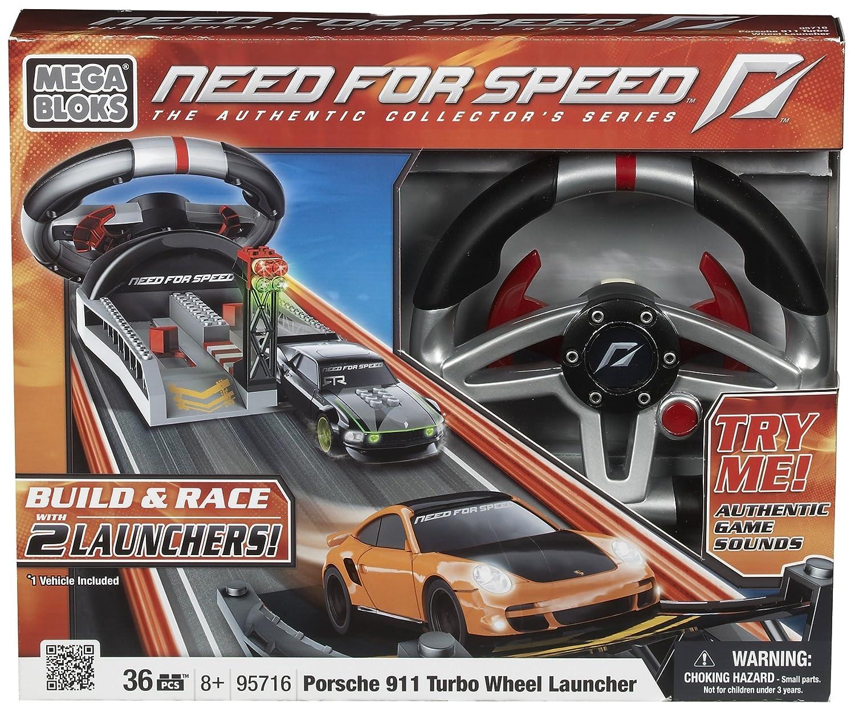 Megabloks 95716U Need For Speed - Coche Porsche Turbo con rampa y volante: Amazon.es: Juguetes y juegos