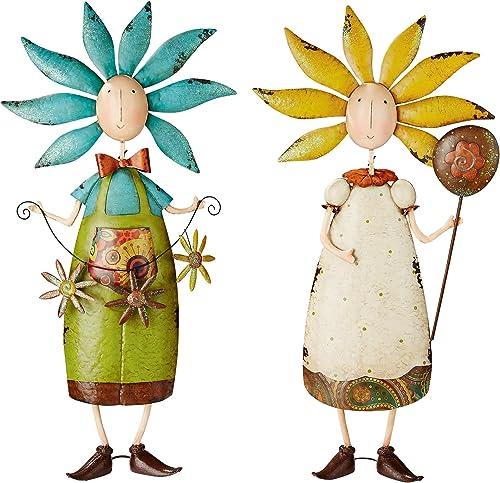 Design Toscano Flower Children Metal Garden Statue: Set