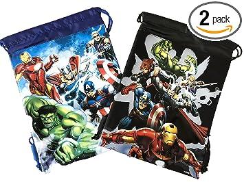 Amazon.com: Marvel Avengers Mochila con cordón para la ...