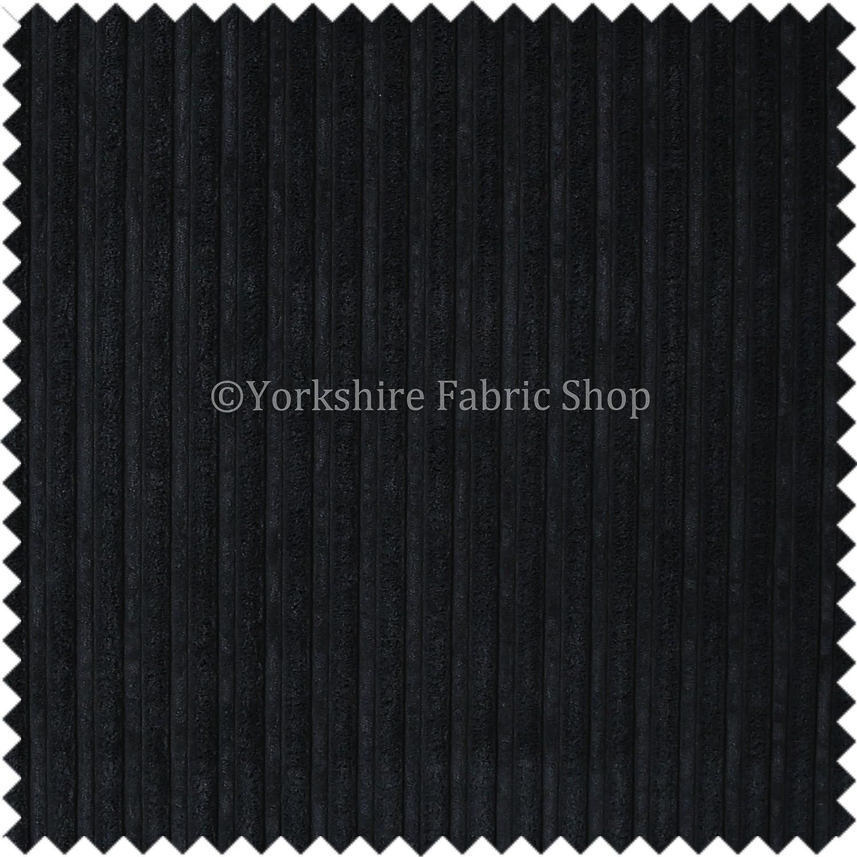 High Quality Soft Noir Black Jumbo Corduroy Upholstery Fabric Cushions Sofa Bed