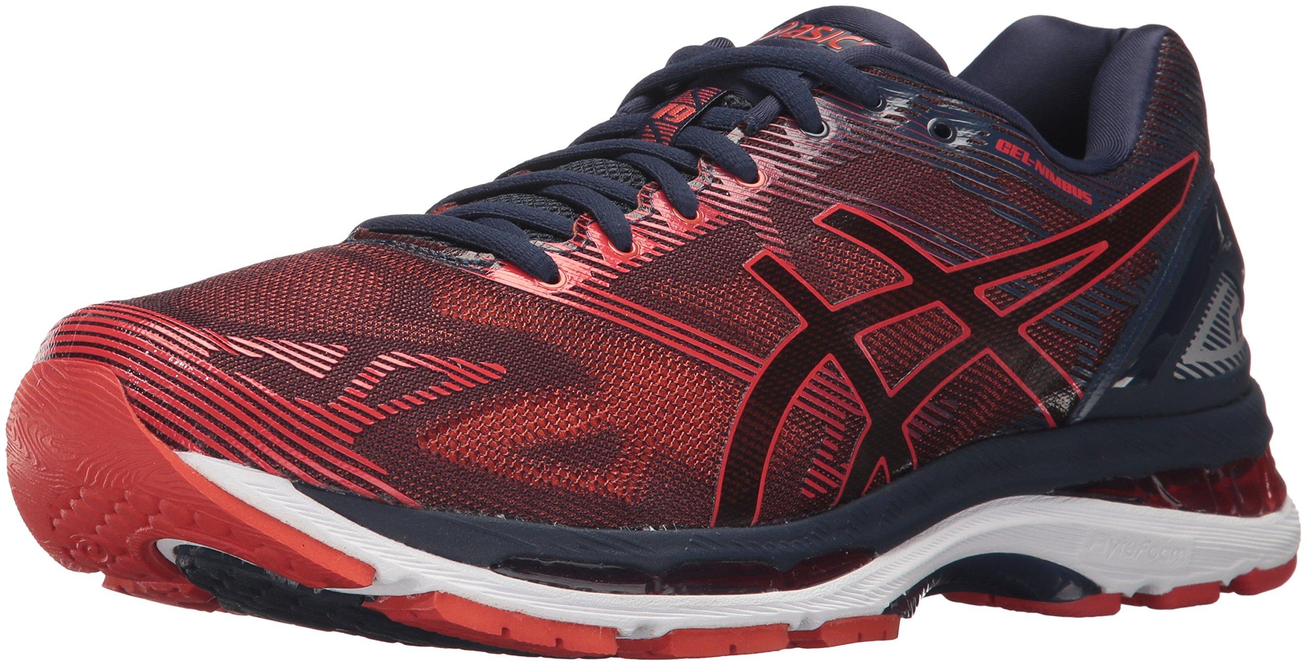 ASICS Men's Gel-Nimbus 19 Running Shoe, Peacoat/Red Clay/Peacoat, 13 Medium US
