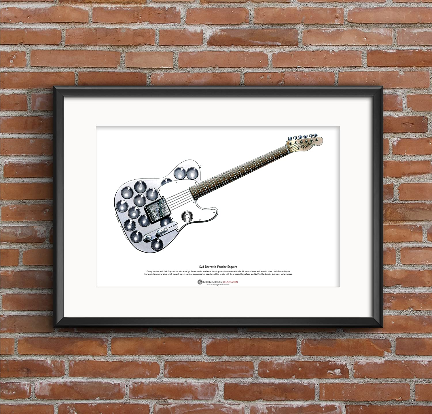 George Morgan Illustration Guitarra de Fender Esquire de Syd ...