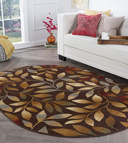 Tayse Katniss Brown 7×10 Oval Area Rug
