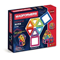 Magformers Construction Set, Rainbow (30-Piece)