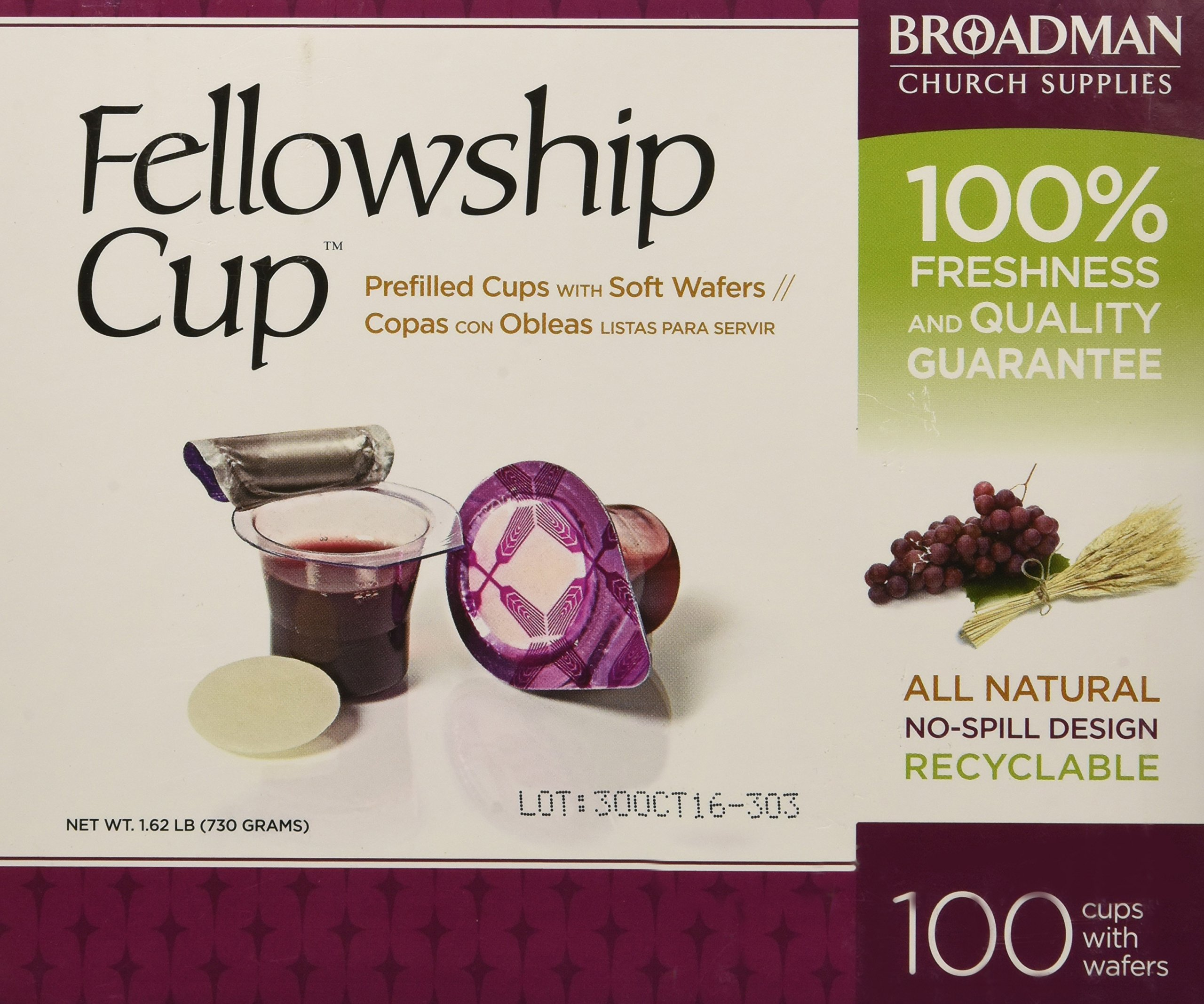 Fellowship Cup Communion Wafer & Juice 100pk by B&H Publishing Group