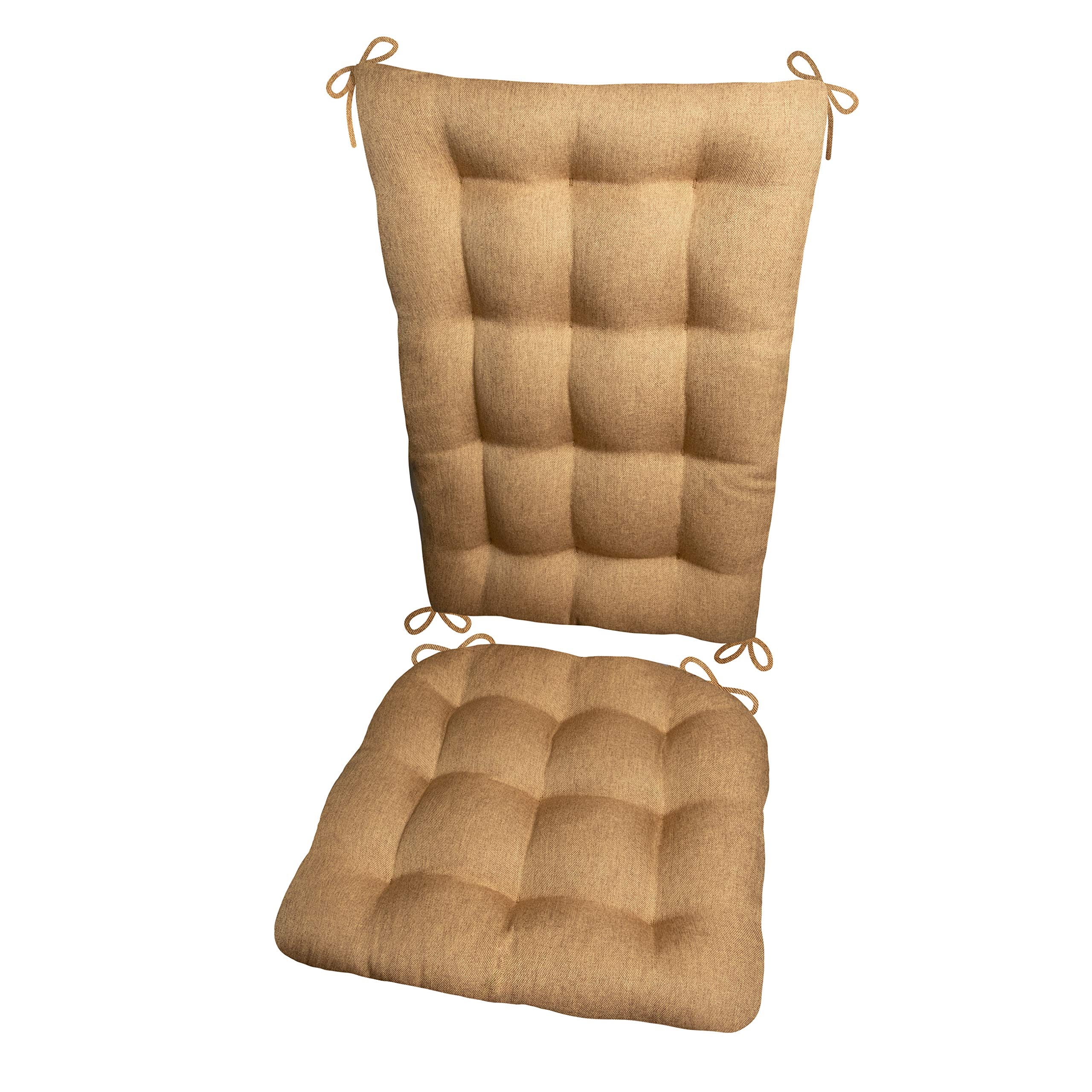 Barnett Products Rocking Chair Cushions - Hayden Copper - Reversible, Latex Foam Fill - Made in USA (Extra-Large/Honey)