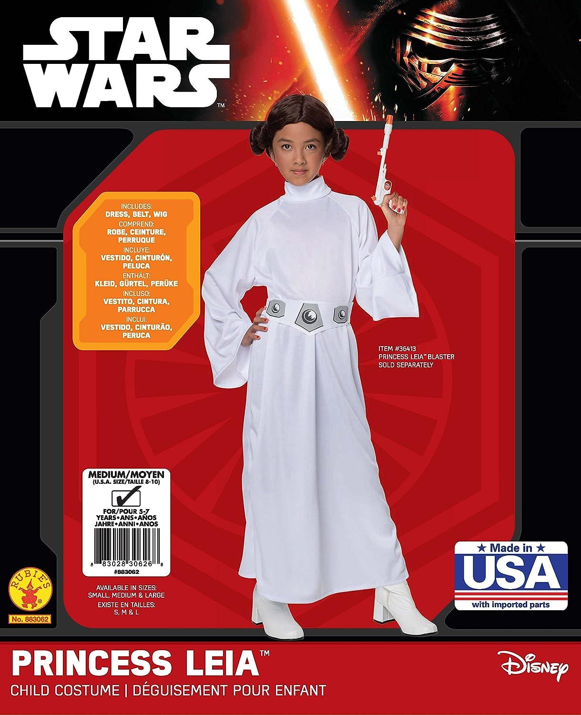 Disfraz de Princesa Leia - Tamaño Pequeño 3-4 Años: Amazon.es: Juguetes y juegos