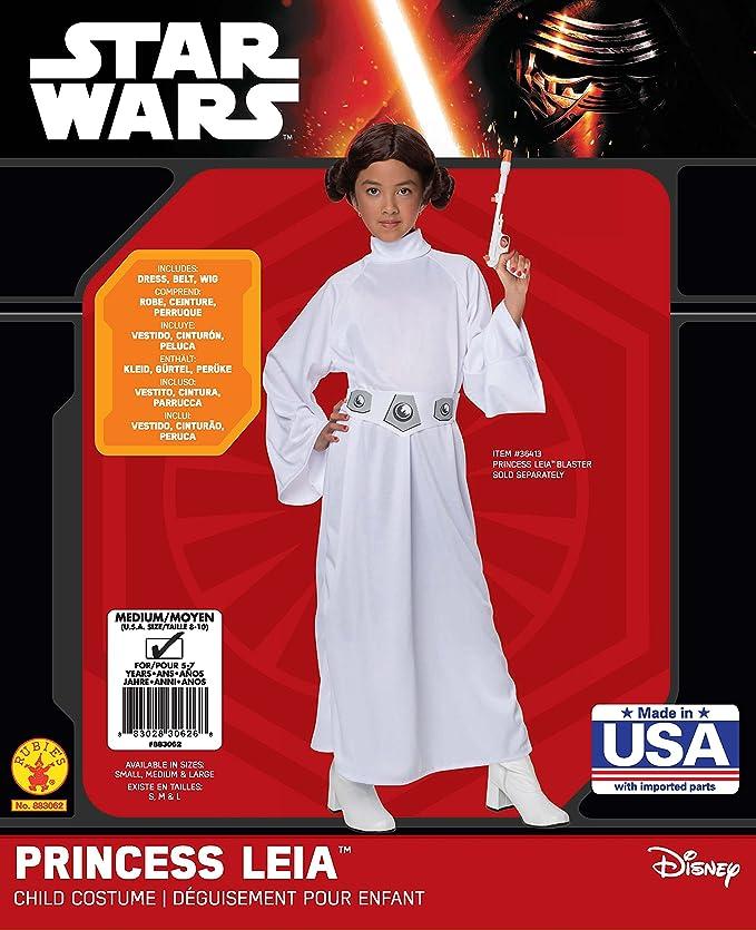 Rubie\'s Official Disney Star Wars Princess Leia, Children Costume ...