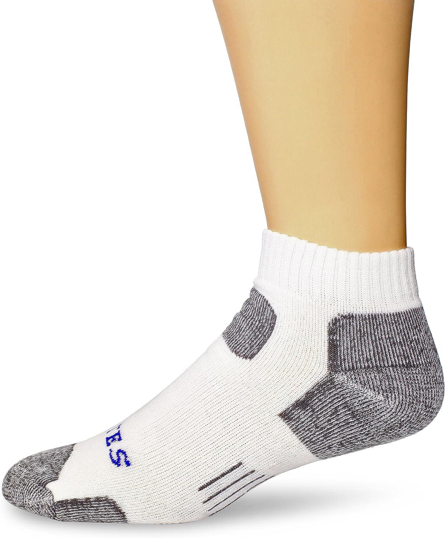 Bates Footwear Cotton Comfort Crew White 3 Pk Large Socks FREE USA SHIPPING